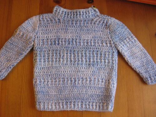 Výprodej Háčkovany dětský svetr vel.74