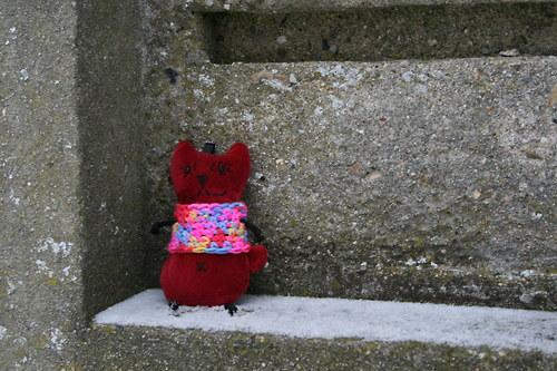 Kočička sametová ve svetříku