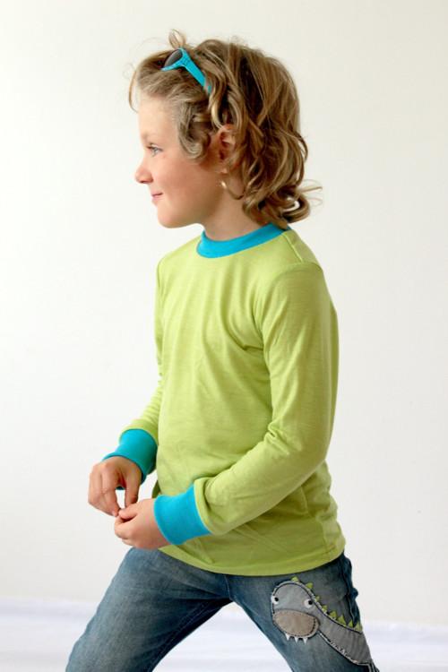 Rostoucí triko, LETNÍ MERINO - 105-116cm (4-6let)