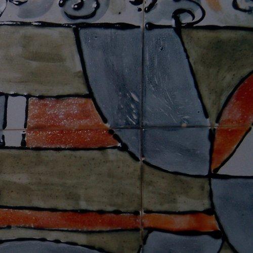 obraz složený z keramických kachlí