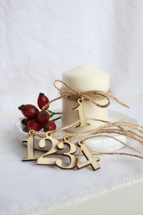 Číslice na svíčky 4 ks 3,3 cm
