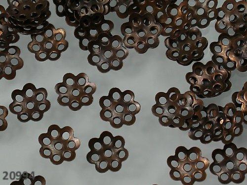 20994 Kaplíky květinky MĚDĚNÉ 6mm, bal. 30ks
