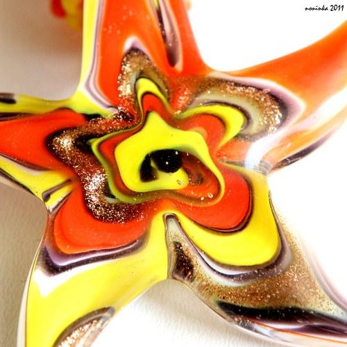 Šitá oranžovo-žlutá hvězdice