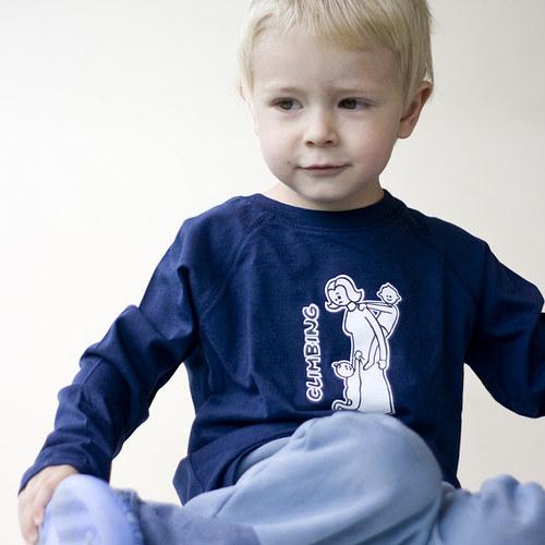 Šplhání na mamince - triko s dlouhým rukávem