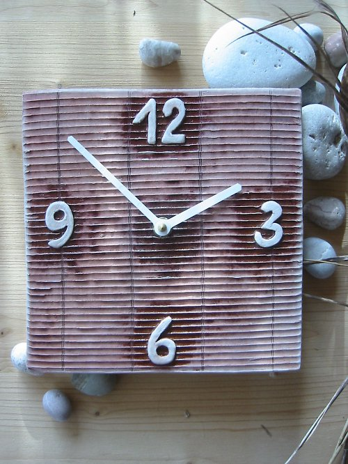 Keramické hodiny - Žaluzie - Sleva