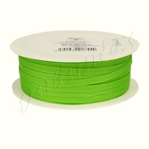Stuha taftová 4mm x 20m / 307 - zelená jarní