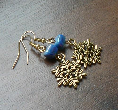 Vánoční náušnice - sněhové vločky