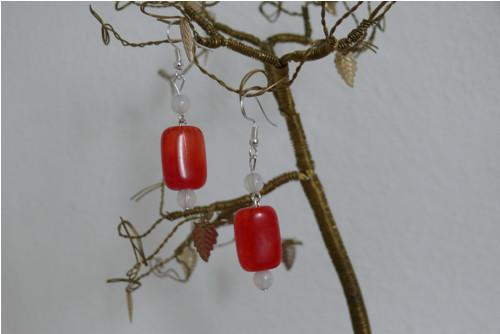 Červené korálky/ výprodej