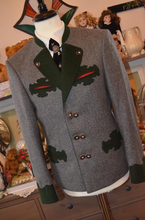 Krásné šedé dobové sako