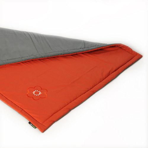 Hrací deka oranžovo/šedá