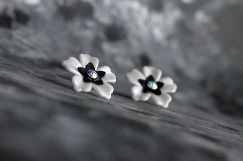Romantic Flowers & Swarovski-White-Ag 925*VÝPRODEJ