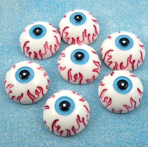 Akrylový kabošon - OBŘÍ oko (cca 25 mm), VÝPRODEJ!