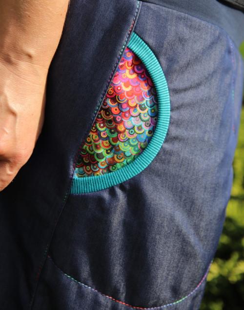 Ležérní riflová s kapsama