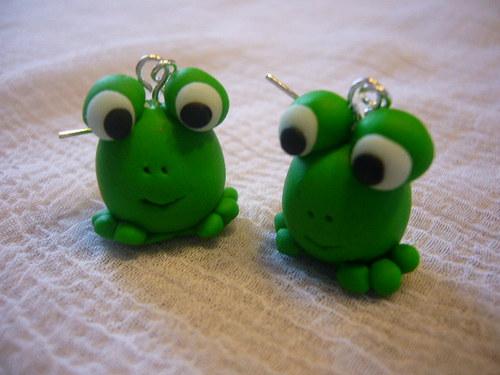 Náušnice žabky