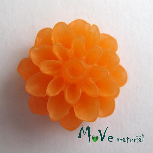 Kabošon květ resin/6ks/oranžový./II. jakost