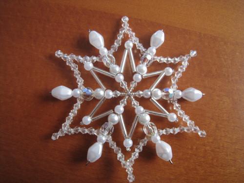 Bílostříbrná ledová hvězdička
