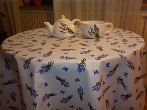 Levandulový ubrus kulatý