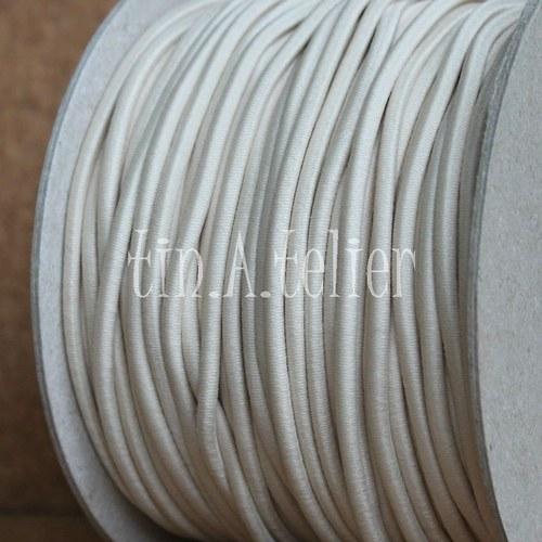 Pruženka/gumička: 2 metry x Ø 3 mm - Krémová #24