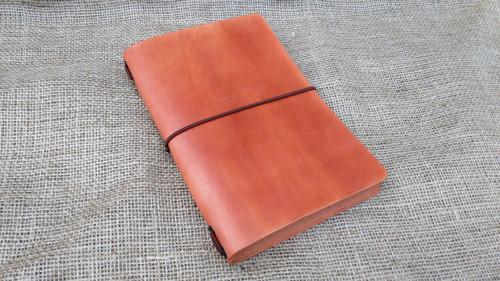 Kožený zápisník A5 ve stylu Midori, cedr