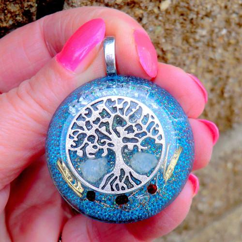 Strom Života 5 * Amulet * Akvamarin s Granátky
