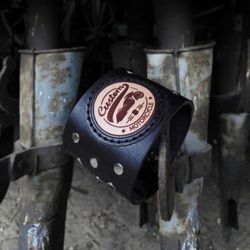 Kožený náramek Custom motorcycle