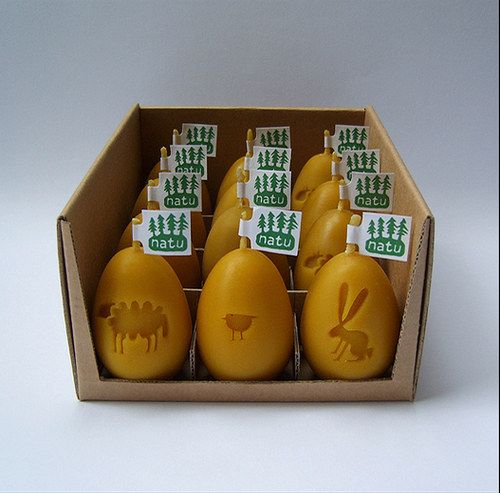 sada velikonočních vajíček ( svíčky - včelí vosk)