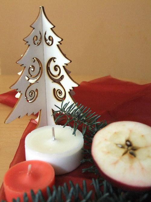 Vánoční strom, stromeček - FILIGRÁN 15 cm