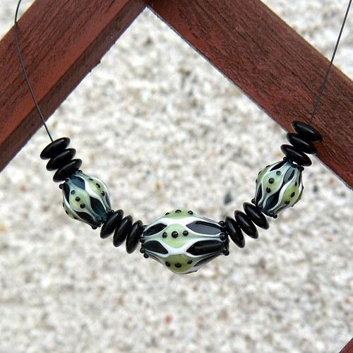 Náhrdelník fantasia - olivín