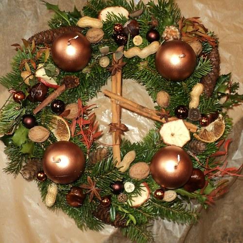 ADVENTNÍ VĚNEC: měděné vánoce