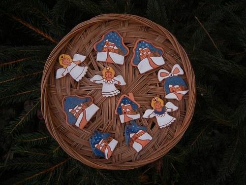 Sada keramických vánočních ozdob