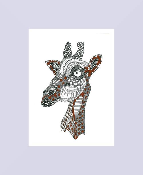 Žirafa (tisk A4)