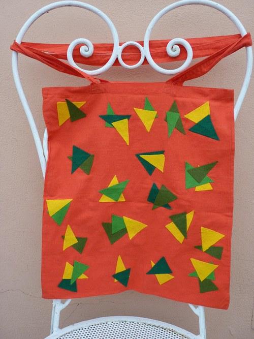 Optimistická látková taška - červená