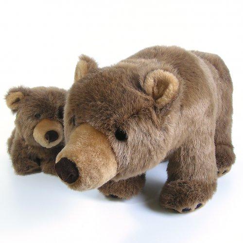 Medvěd hnědý s mládětem - autorská hračka