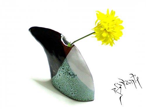 Váza rohatá