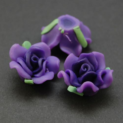 Růže korálek fimo   KV11