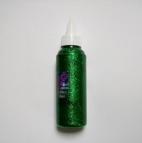 Třpytivé lepidlo - tmavě zelená