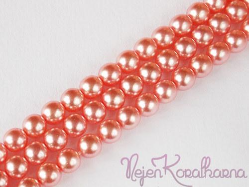 Voskové perle růžová 8mm