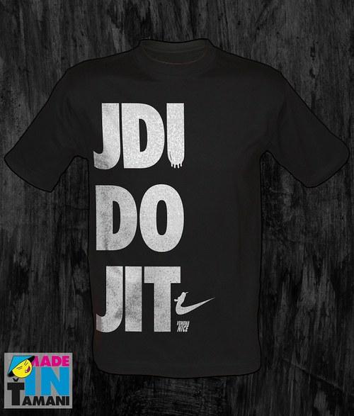 Pánské černé tričko Jdi do jit