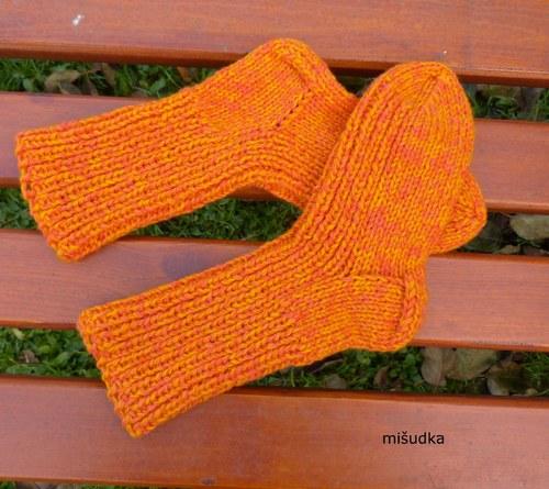 Ponožky jako od maminky -  dětské oranžové 61