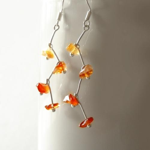 Náušnice kvetoucí karneol