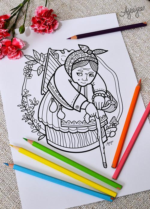 Babka kořenářka  – omal. ilustrace (K TISKU)