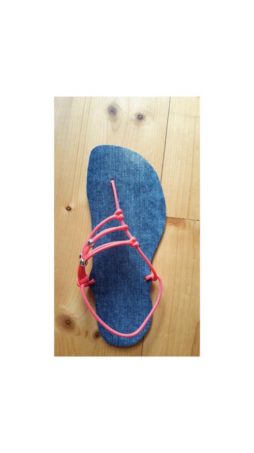 Elegantní Huarache sandále dámské džínové