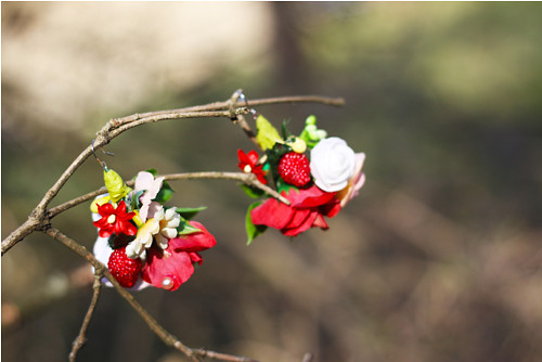 """Floral earrings \""""Jahody\"""""""