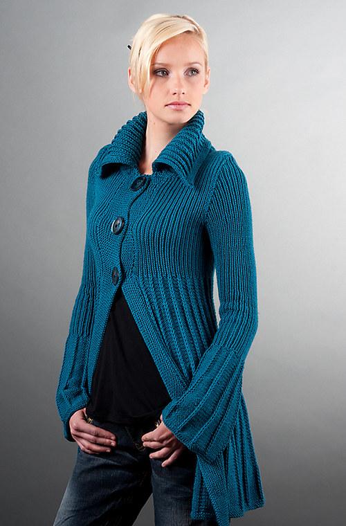 Popis - návod na pletený kabátek Victoria