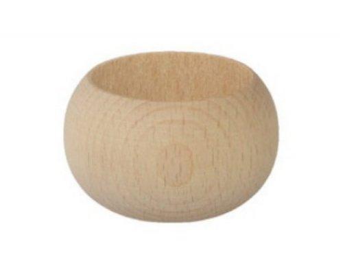 Malý dřevěný kulatý svícen DL167