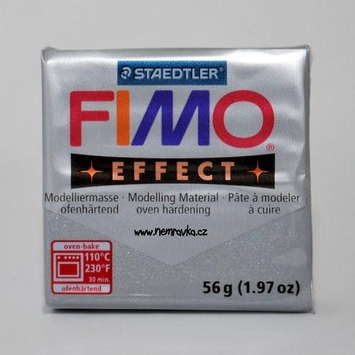 FIMO Effect / Metalická stříbrná (81)