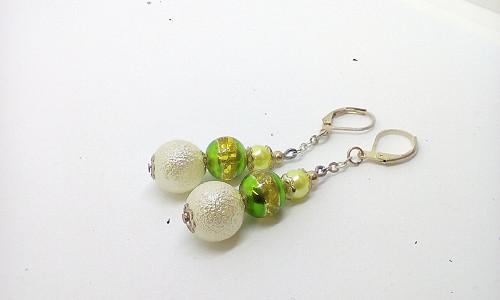 Zelené s perličky-VÝPRODEJ -SLEVA