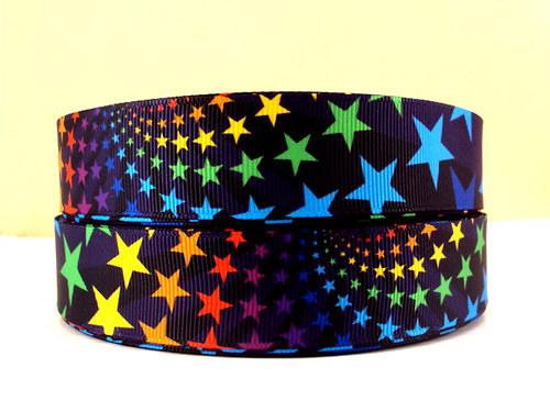 Stuha rypsová š.25 mm: Hvězdy