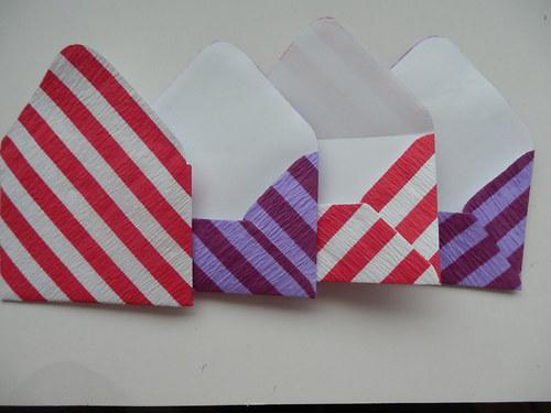 malé obálky na přáníčka set č. 3.