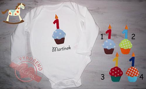 Body první narozeniny dortík